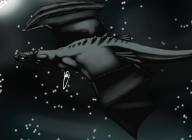 Toothless at night by haruyo78