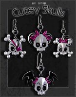 Just Earrings Cutey Skulls 02 by inception8