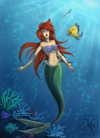 Disney - Ariel and Flounder by Hedrick-CS