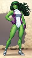 She-Hulk by bennyfuentes