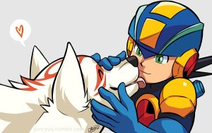 Ammy and Rockman by Junryou-na-Kokoro