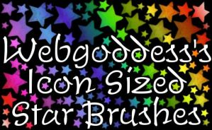 Icon Sized Star Brushes by webgoddess