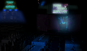 Funtime Freddy's Stage by Zacmariozero