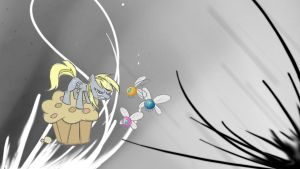 Derpy's muffin defense desktop by drbeepboop