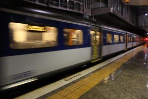 Train Leaves by agreenbattery