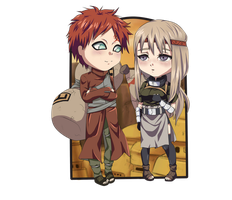 Chibi Gaara and Nezumi by PolishaMyshka