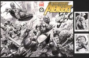 Avengers 100 Cover by TonyParkerArt