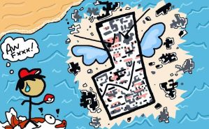 Not so Kawaii Missingno. by Orangedelightfulness