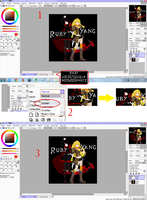 How to use the RWBY font sheet by lightning-in-my-hand