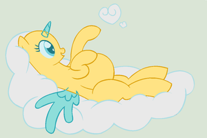 Preagnant Pony on cloud base by Monster-Bunnies