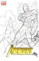 IRON MAN COVER SKETCH by dovianax