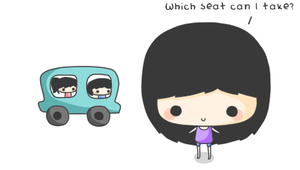 Which seat can I take? by CreamTroll