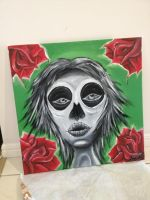 oil painting kinda day of the dead by DominantDinosaur