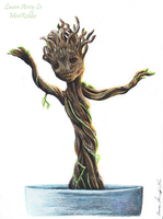 Dancing Baby Groot by MorRokko