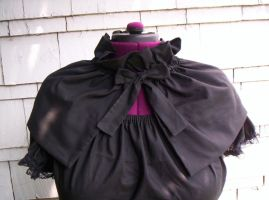 Black Cotton Capelet by GothicDorothy