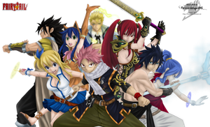 FairyTail Color without BG and effects by brownman06