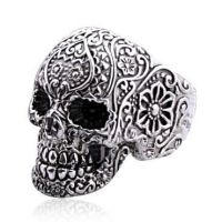Punk Style Silver Skull Rings for Women by tracylopez