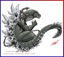 Godzilla joins the Navy by KaijuSamurai