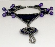 Purple belled foot flower by chainmaille