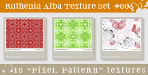 Texture Set 06: Pixel Pattern by Ruthenia-Alba