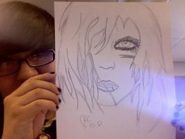 Andy Biersack Drawing by Carabajal32