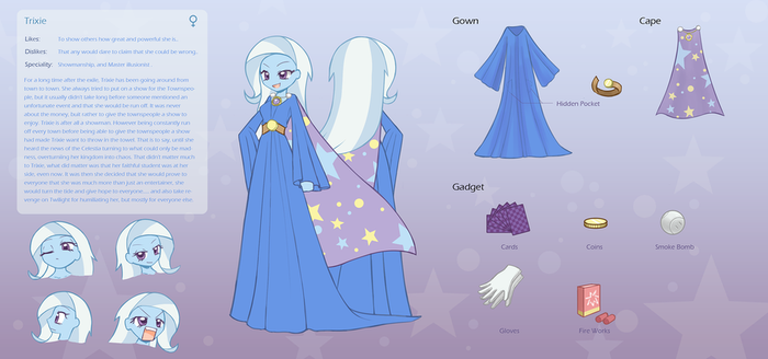 commission character sheet Trixie by HowXu