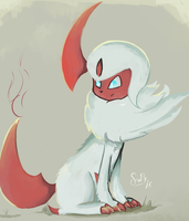 Shiny Absol by FireflyThe5th