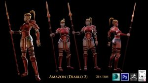 Amazon, Diablo 2 (Fan art) by CGHow