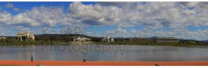 Lake Burley Griffin Panorama by K-Tak