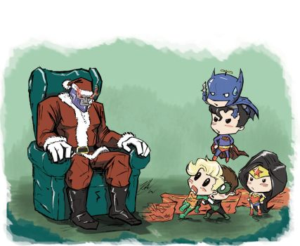 Little Justice League Christmas 2013 by johnni-k