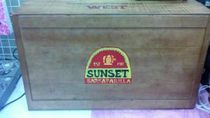 Sunset Sarsaparilla Crate by paintmeaperfectworld