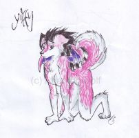 im pink ....and yifffy by Phantom--Wolf