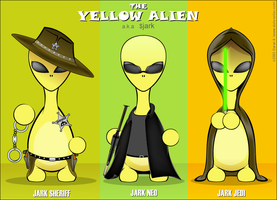 3 Yellow Aliens by duhcoolies