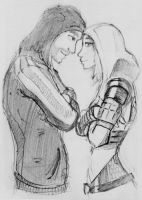 Tali x Shepard (84) by spaceMAXmarine