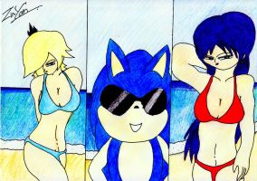 Sonic And His Girls by lordtrigonstar