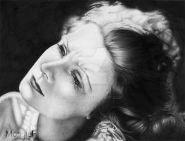 Greta Garbo by MonsieF