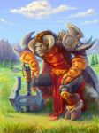 Warrior Tauren by lowly-owly