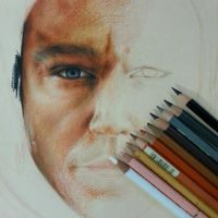 Martain colored pencil painting in progress by can727