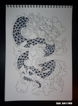 Cazi Dragon Coloring 1st by 8Eight8Ball8