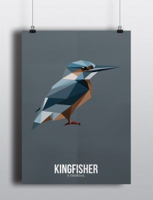 Poster Kingfisher by SimonTwoPointO