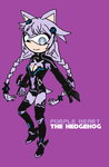 Purple Heart the Hedgehog by EvoDeus