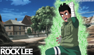 Rock Lee -Konoha's Green Beast- by Shinoharaa