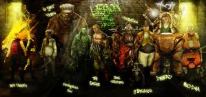 Malifaux Gamers by slaine69