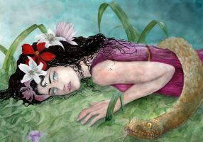the death of Eurydice by llewllaw