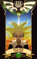 Weeaboo Tarot - The Sun by Shattered-Earth