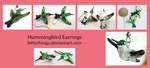 Ruby Throated Hummingbird Earrings - GIFT by Bittythings
