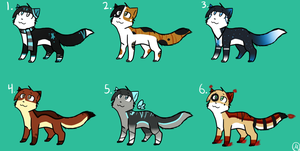 Cat Point Adoptables :CLOSED: by MistDapple