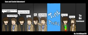 SAm and Castiel Adventure by ArchXAngel20