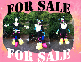RAVE CAT FURSUIT FOR SALE -SOLD SOLD SOLD- by Frosted-Monster