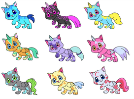 Uni Kitty Adoption set1 by Kat-Skittychu